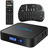 2017 Globmall Android 6.0 TV Box mit Mini Wireless QWERTY Keyboard, 2017 Modell X1 4K Android TV Box 1GB RAM 8GB ROM und Bluetooth 4.0 mit Quad Core CPU 64 Bits AmlogicS905X
