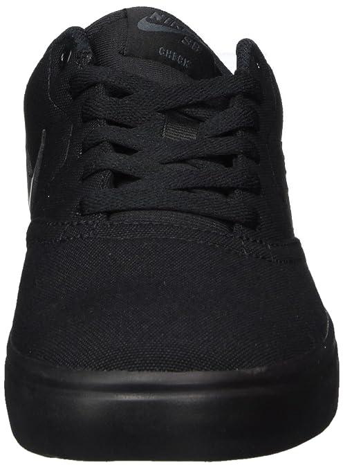 Amazon.com | Nike Mens SB Check Solarsoft Canvas Skate Shoe Black/Anthracite 13 | Fashion Sneakers