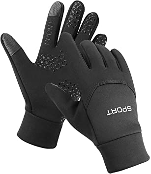 Men//Women Fingerless Gloves Fleece Lined Winter Warm Thermal For Working Driving