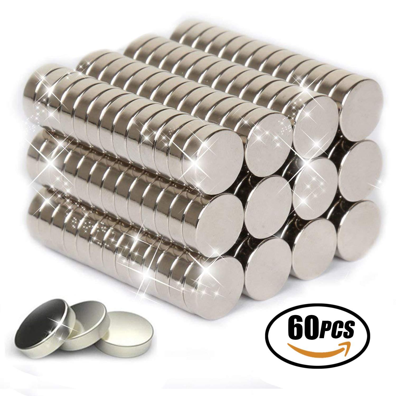 Reastar Magnete 60pcs Hochwertige Mini Magnet Rund Klein Magnete Ultra Starke Mini Magnete für Whiteboard, Pinnwand, Magnettafel, Kühlschrank Kühlschrank