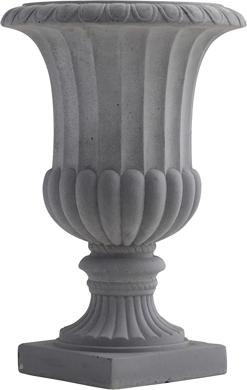 Nearly Natural Decorative Urn (Indoor/Outdoor), 11 In. W x 11 In. D x 16.5 In. H, Gray