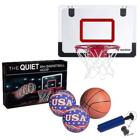 Iserlohn Mini Basketball Hoop, Over The Door Use   Include 2 Quiet Shooting  Ball And