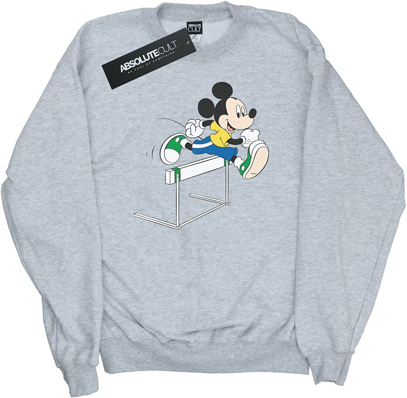 Disney Damen Mickey Mouse Hurdles Sweatshirt Heather Grey