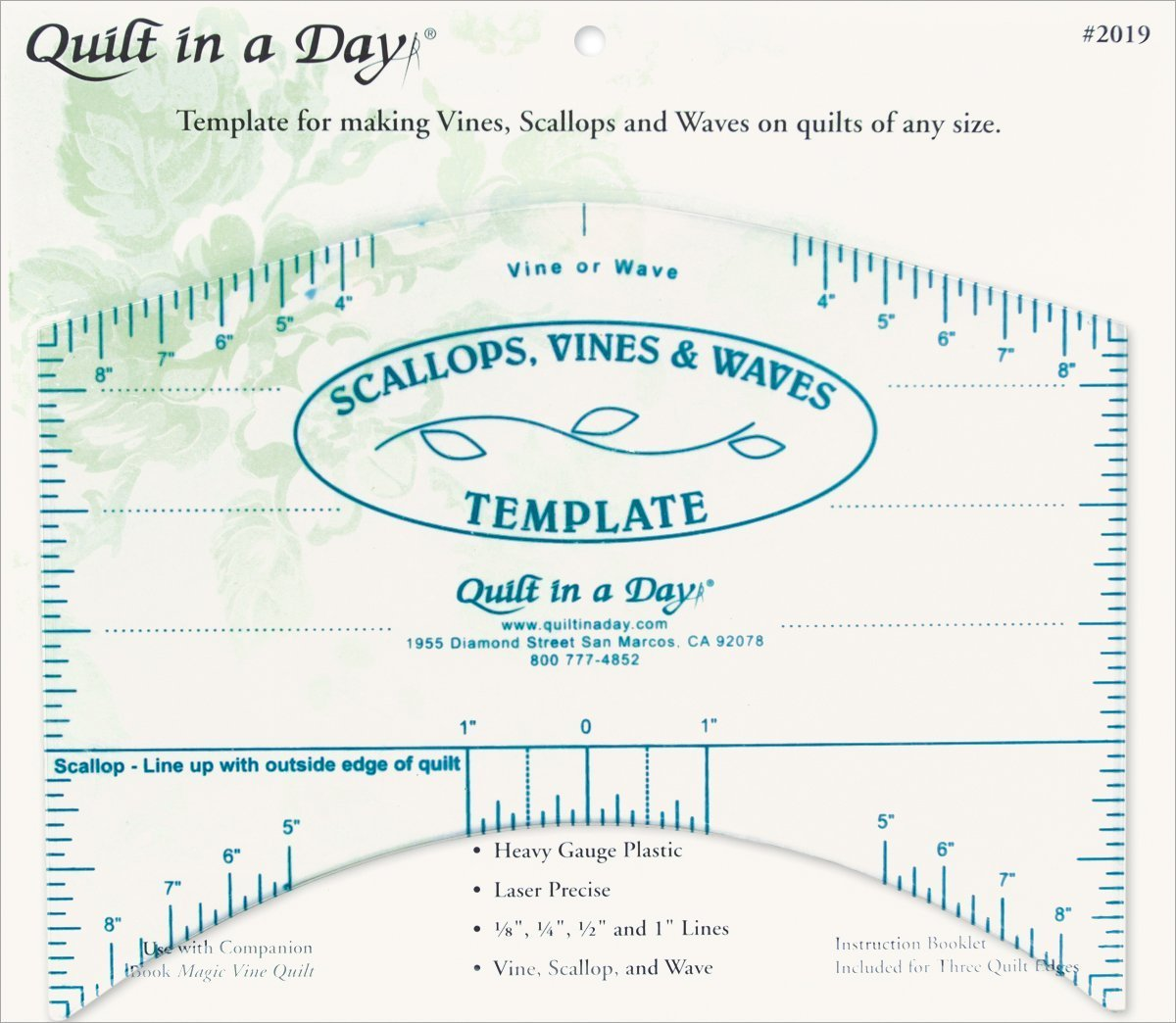 Amazon.com: Quilt In A Day Scallops, Vines and Waves Template: Arts ...