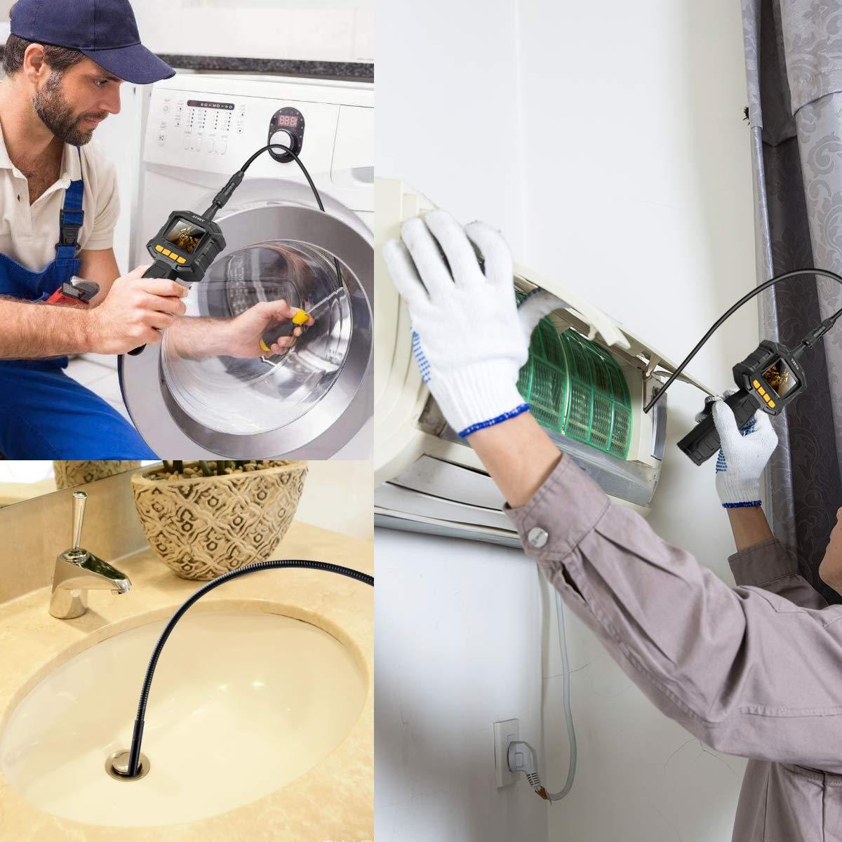 Auzev Endoskopkamera 2,31 Zoll Monitor 1 Meter 8 Stufe Einstellbare Helligkeit und 8mm Durchmesser Flexible endoskopkamera Boreskop Hand Digitales Inspektionskamera f/ür Kfz-Bereich