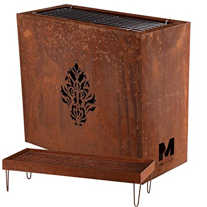 RM Design - Cesta para Hoguera o Barbacoa (Metal Oxidado, 70 ...