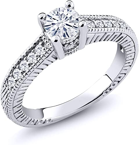 SZ 5-9 US FOREVER RING W// 1 CT LAB DIAMONDS 925 STERLING SILVER