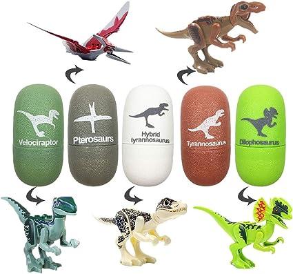 Amazon.com: Jofan 5 unidades de dinosaurio huevos de ...
