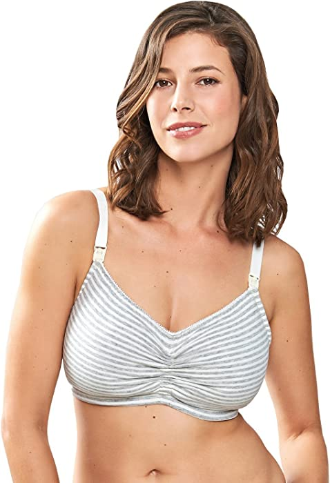 55f6fc17256 1356 Women s Blossom Dove Grey Striped Non-Padded Non-Wired Maternity Bra