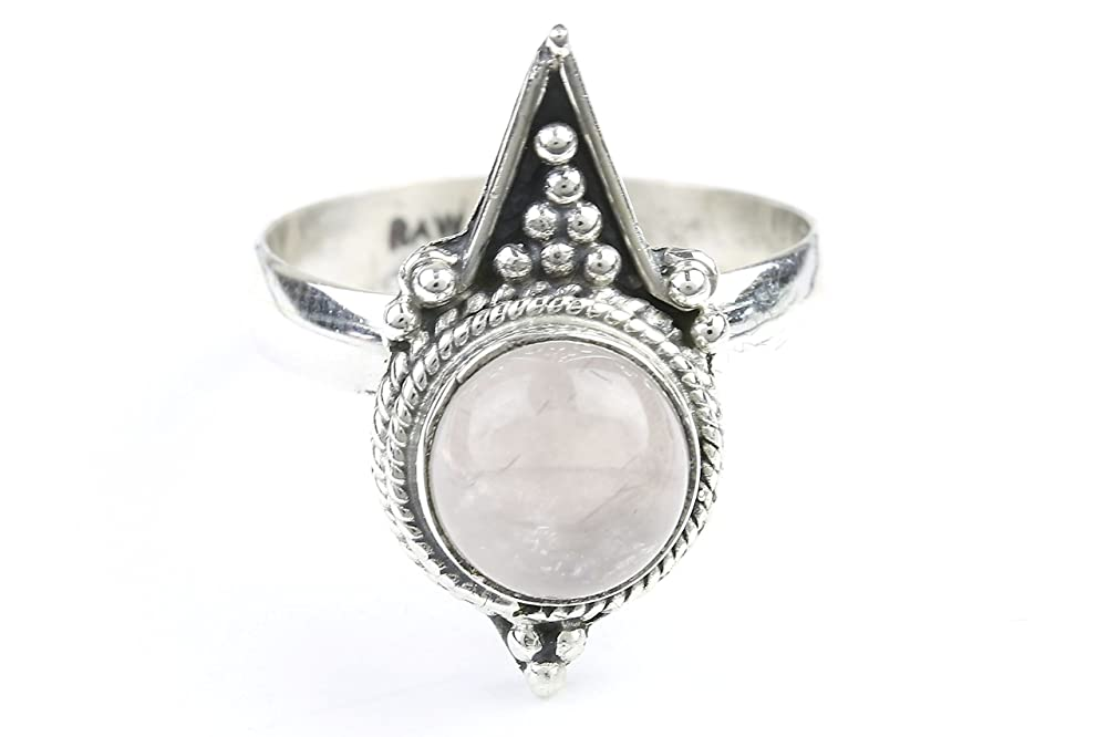 Mountain Fall Ring Stone Jewelry Sterling Silver Rose Quartz Ring Gemstone