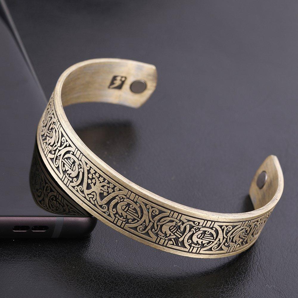 EUEAVAN Magnetic Health Care Viking Celtic Knot Tree of Life Cuff Bracelet