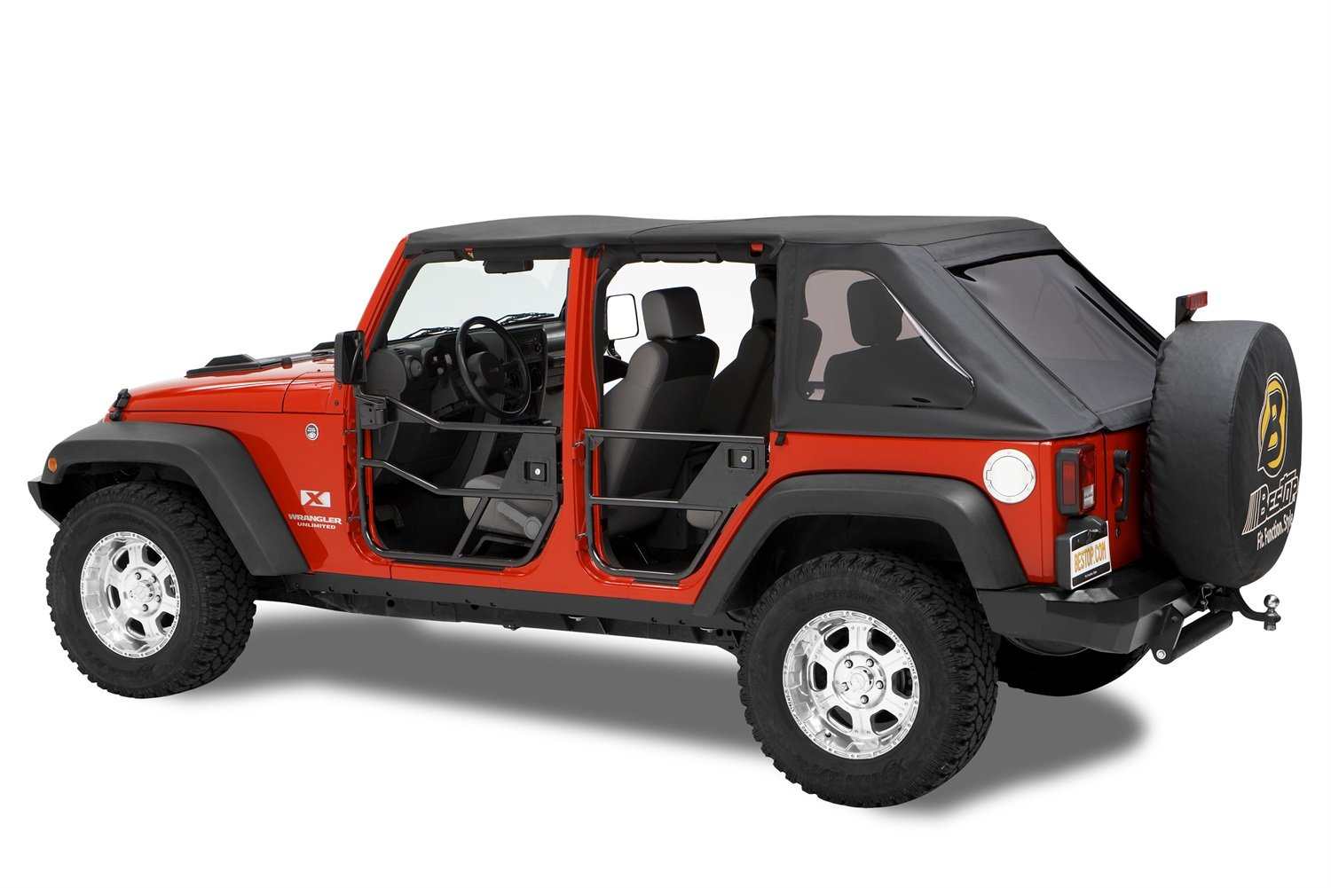 Amazon.com: Bestop 51810-01 Black HighRock 4X4 Element Door Set for Wrangler JK including Unlimited - Front doors: Automotive