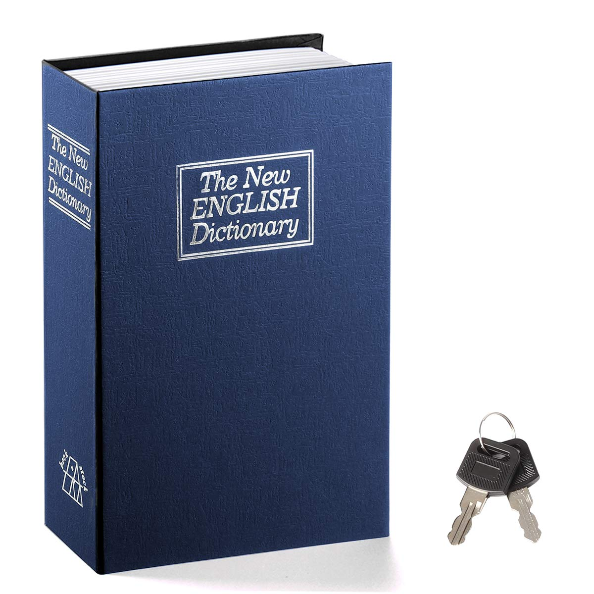 Book Safe withキーロック – jssmstホーム辞書Diversionセーフロックボックス2018メタルボックス、Large、sm-bs014 L ブルー B07G4X6J57
