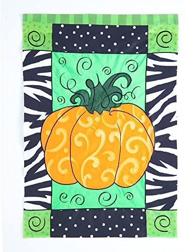 Evergreen 157702 Pumpkin Whimsy Flag, 0.10 x 43 x 29 , Multicolored