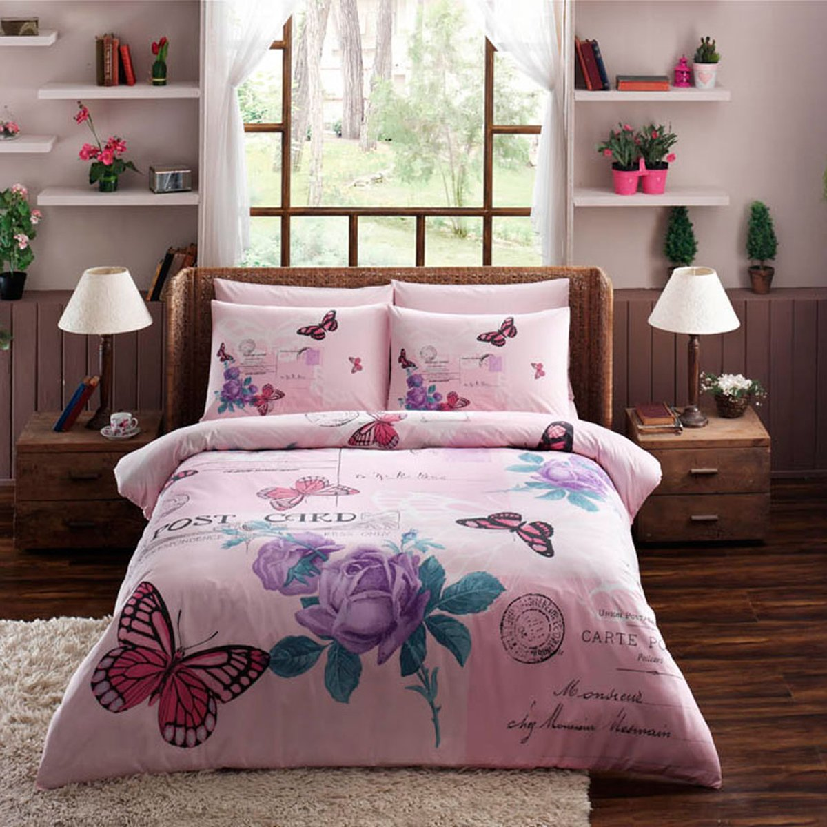 Teen Girls Pink Dusty Pink Rose Bedding Sets Ease