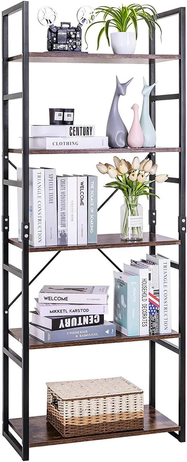 wholesape cheap LLIVEKIT Bookshelf Vintage 21 Tier Bookcase Wood ...