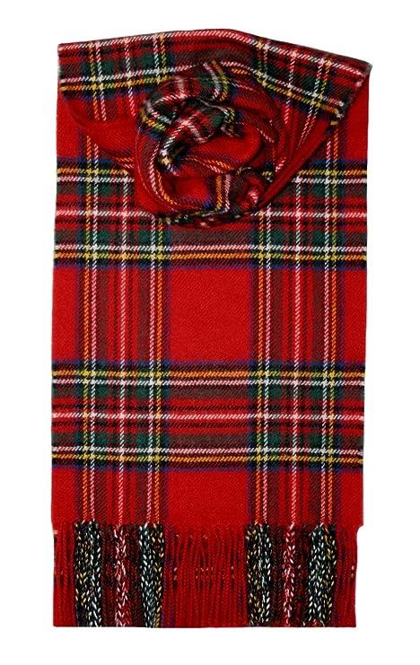 79298da112e1 Amazon.com  Lochcarron Royal Stewart Tartan Lambswool Scarf  Sports ...