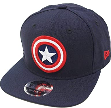 7227be182 Amazon.com: New Era Captain America Navy Snapback Cap 9fifty 950 ...