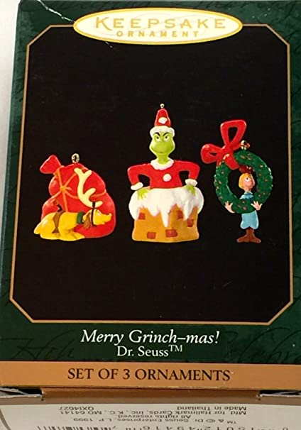 keepsake merry grinch mas christmas ornament - Grinch Christmas Decorations Amazon