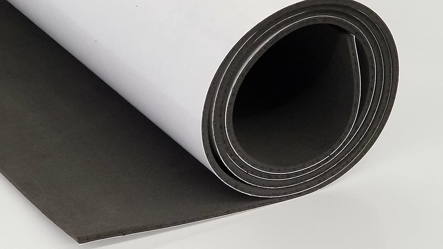 Sponge Neoprene Foam Rubber Sheets and Strips with ADHESIVE BACKING Soft/Medium Hardness- Cut to multiple dimensions and lengths - DIY, Gaskets, Cosplay, Costume, Crafts Rubber Sheet Warehouse