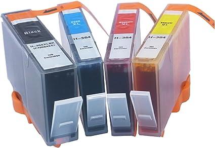 Genérico cartucho de tinta compatible para HP 364BK 364PBK 364 C 364 m 364Y (1 x negro, 1 x Cyan, 1 x Magenta, 1 x Amarillo, pack de 4): Amazon.es: Oficina y papelería