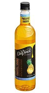 Da Vinci Gourmet Pineapple Sugar Free Syrup, 750 mL