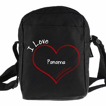 Bolso bandolera I Love Panamá colour negro: Amazon.es: Deportes y aire libre