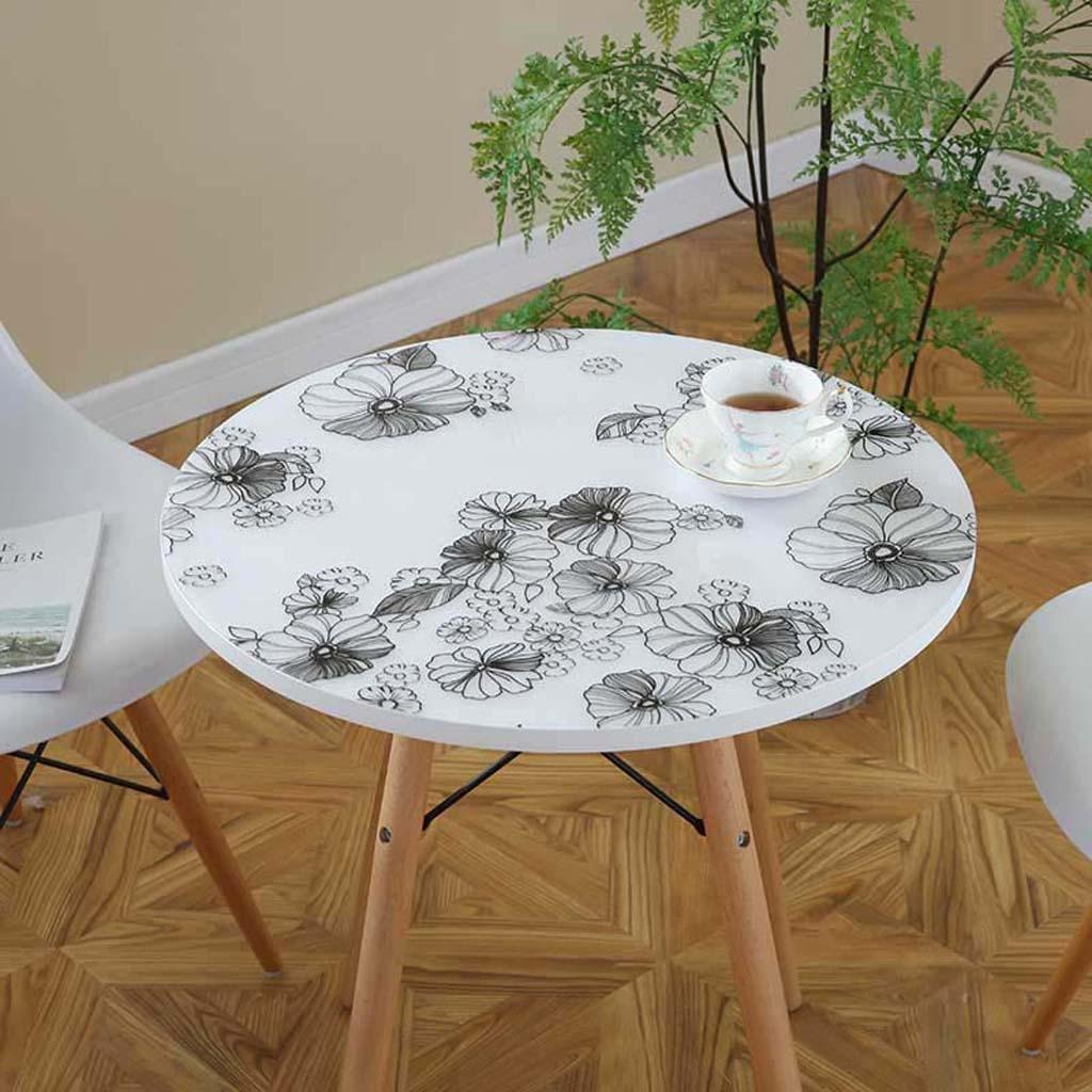 ZHOU Runder Tischdecke-PfingstRosa PVCs wasserdicht und ölBesteändig B07BQNS684 Tischdecken & ZubehörNeueste Technologie | Sehr gute Qualität