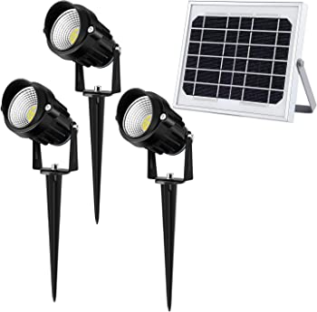 3-Pack CLY LED Solar Spotlight