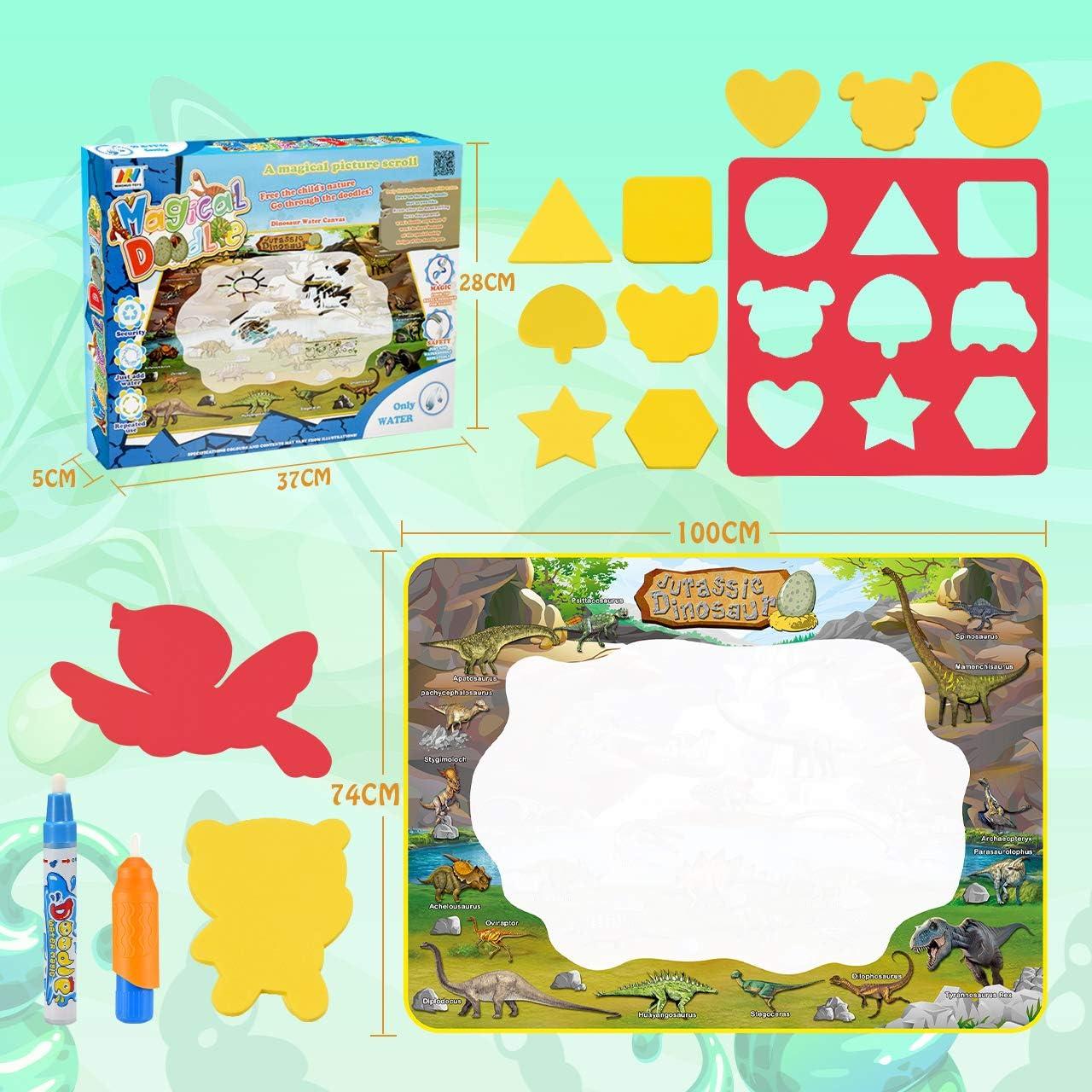Dreamingbox Dinosaurio Doodle Alfombra M/ágica Juguetes /& Regalos para Ni/ños