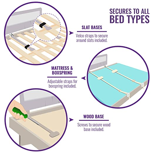 Amazon.com: Barrera para cama para cuna convertible, cama ...