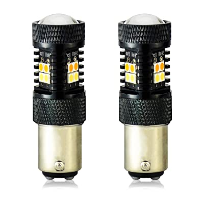 JDM ASTAR Extremely Bright 3030 Chipsets White/Yellow 1157 2057 2357 1157A 2057A 2357A Switchback LED Bulbs with Projector For Turn Signal Lights: Automotive