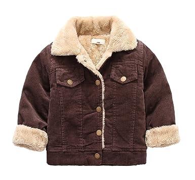 6640d8d39c87 Amazon.com  Little Boys Winter Fleece Lined Quilted Corduroy Jacket ...