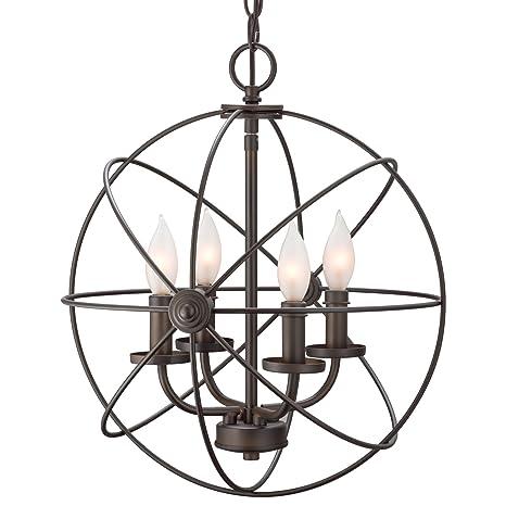 Revel Kira Home Orbits II 15 4 Light Modern Sphere Orb Chandelier