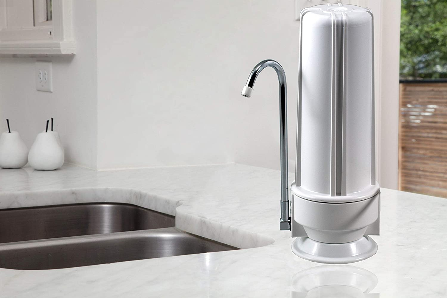 Premium Countertop Water Filter on the counter