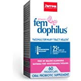Jarrow Formulas Fem-Dophilus - 1 Billion Organisms Per Serving - 60 Veggie Capsules - Women's Probiotic - Urinary Tract Healt