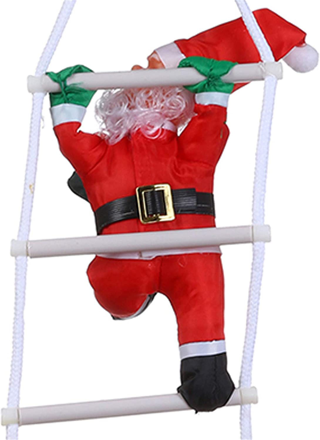 Happy Event Papá Noel en Escalera | Decoración navideña | Distressed Dekor | Santa Claus on Ladder Christmas Decoration Pendant Hanging Decor, Rojo, B (2 Santa Claus): Amazon.es: Juguetes y juegos