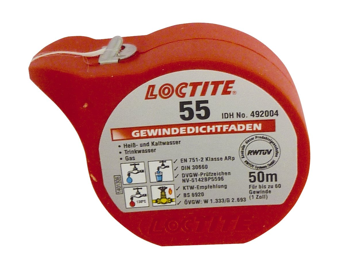Sanitop-Wingenroth filetage é tanche fil Loctite 55, 1 piè ce, 50 m, 25501 1 1pièce 50m 255011 Henkel 25501 1