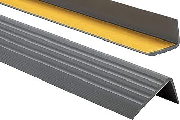 DunkelBraun PVC Treppenkantenprofil Selbstklebend Winkelprofil Anti-Rutsch Treppenkante 41x25mm 1,65m