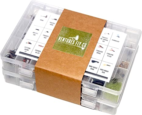 Assorted Hand Tied Premium Trout Fishing Flies with Fly Box Included!