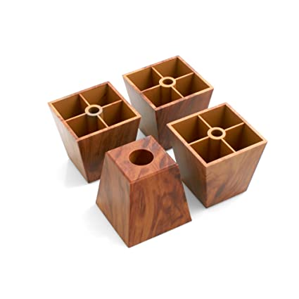 Design61 Juego de 4 Sofá patas de plástico para muebles muebles Posavasos sofá sillón para muebles