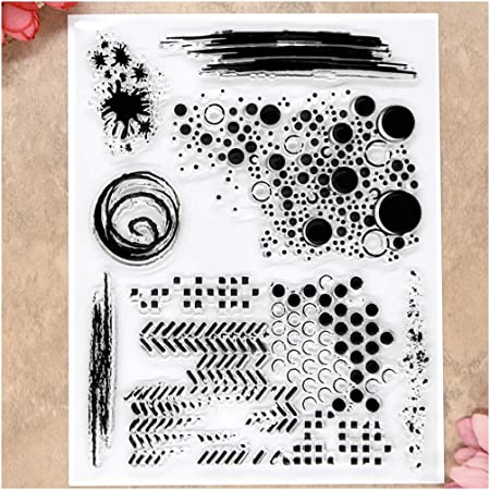 Kwan Crafts Bubble Ink Clear Stamps for Card Making Decoration and DIY Scrapbooking
