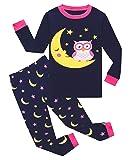 Owl Big Girls Long Sleeve Pajamas 100% Cotton Pjs