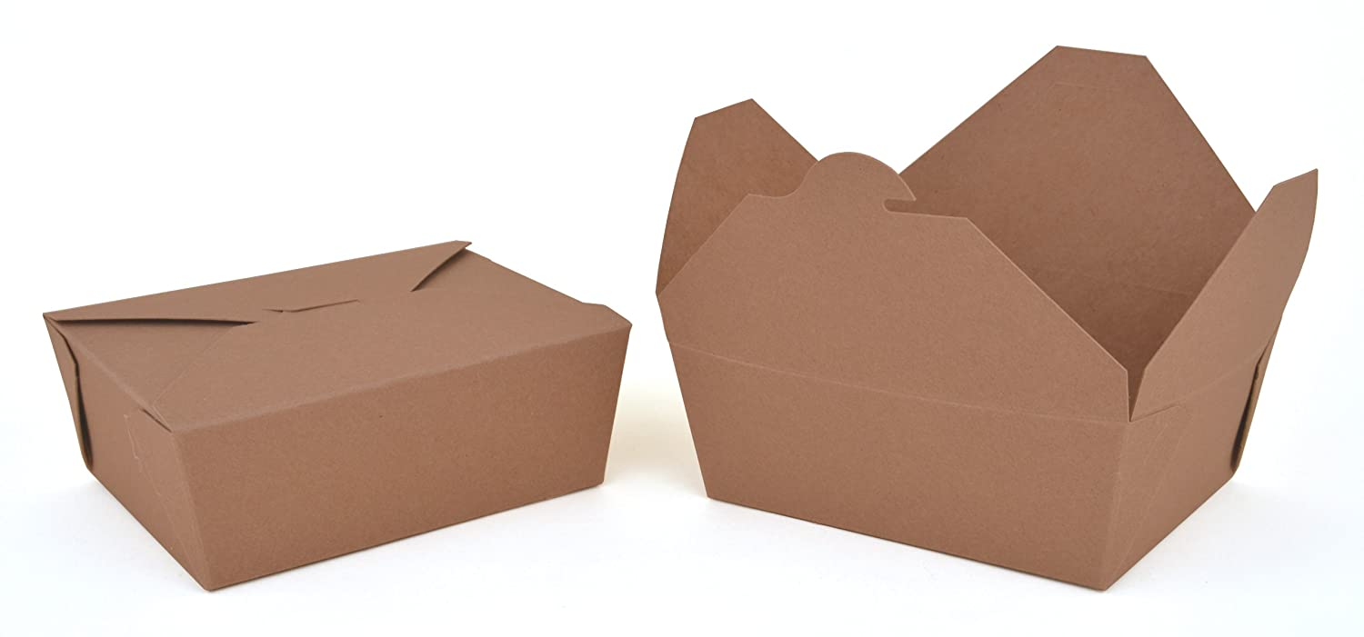 Southern Champion Tray 0768 #8 ChampPak Retro Take-Out Container Pack of 300 6 L x 4-3//4 W x 2-1//2 H Kraft Paperboard with Poly Coated Inside