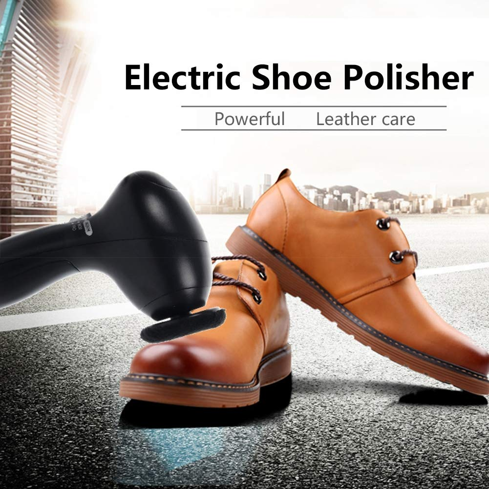ZRB Shoe Polisher Brush - Electric Shoe Polisher Cleaning Maintenance Tool for All Leather Goods, Battery Powered