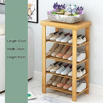 Étagère à chaussures Étagère à chaussures en bambou naturel, naturel, naturel, étagère 3d295d