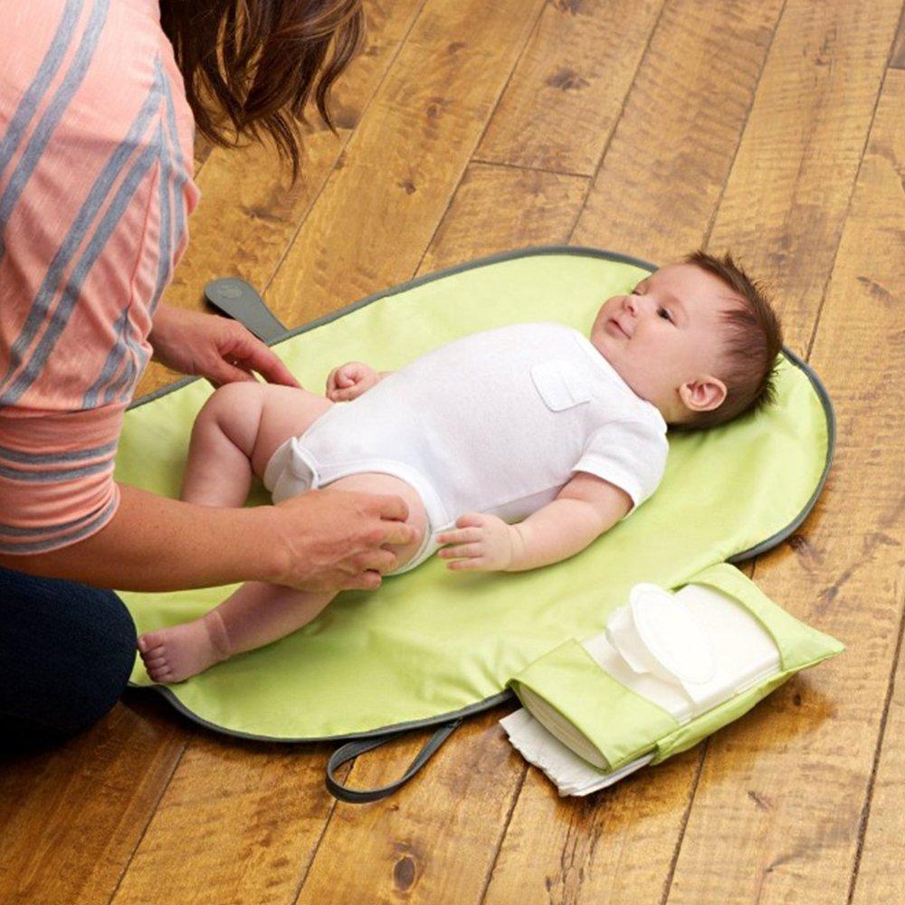 Cambiador Impermeable Hoja, portátil para cambio de pañales Pad gris gris: Amazon.es: Bebé