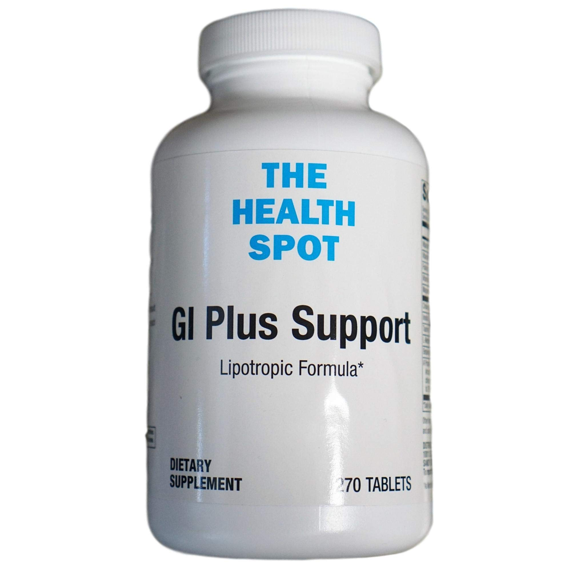 The Health Spot GI Plus Support Lipotropic Formula - Digestive Support Healthy Fat Metabolism Supplement, Supports Liver, Gallbladder, Digestion Non-GMO, Vegan, Gluten Free, Soy Free. 270 Tablets.