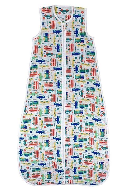 El saco de dormir de verano Slumbersac para bebés, de aprox. 0.5 Tog – Coches– de 18-36 meses/110 cm