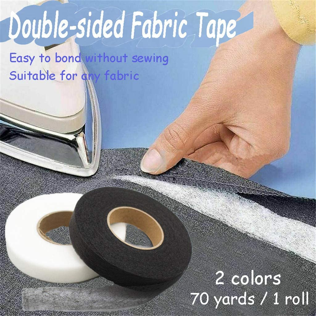 Hem Tape No Sew Fabric Repair Tape for Clothes Fabric Fusing Tape Iron On Fabric Mending Tape Adhesive Hem Tape Iron-On Black Hemming Tape for Pants//Dress//Blouse Double Sided Tape for Fabric